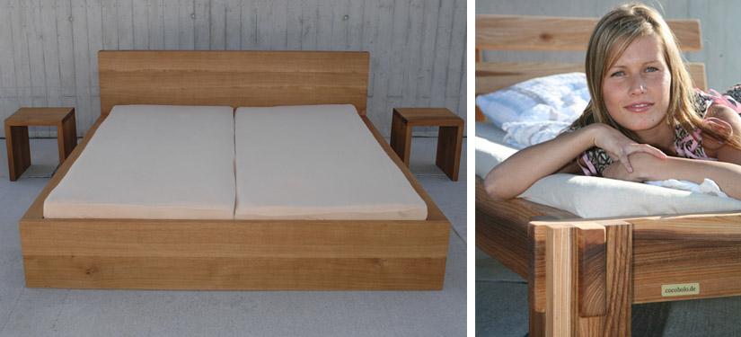 Günstige Doppelbetten Aus Massivholz Komforthöhe Günstig Kaufen 140