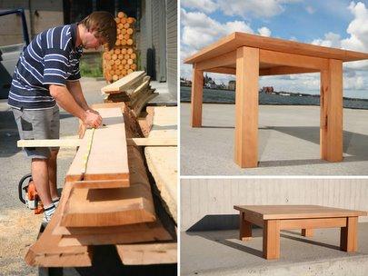 Gartentisch Holz Massiv Quadratisch Rechteckig Gunstig Designer