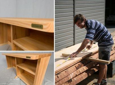 Schreibtisch Holz Massiv Natur Hohenverstellbar Kinder Buro Design