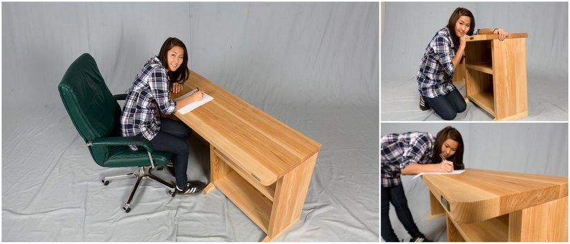 Cocobolo Designer Schreibtisch Aus Holz Massiv Ergonomischer Natur Oder Geolt Online Bestellen