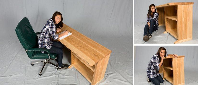 Schreibtisch design günstig  Günstige ergonomische Schreibtische Büro Kinderzimmer Massivholz ...