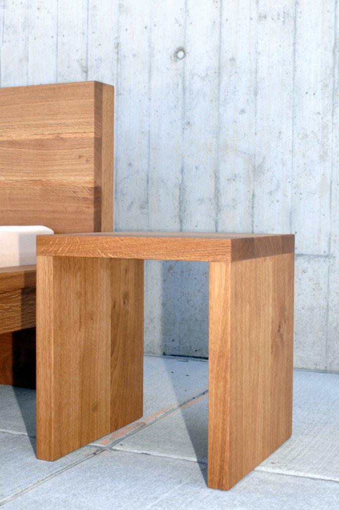 nachttisch m bel schlafzimmer betttisch beistelltisch holz. Black Bedroom Furniture Sets. Home Design Ideas