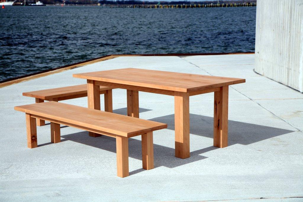 Schreibtisch Holz Massiv Natur Hohenverstellbar Kinder Buro Design Billig